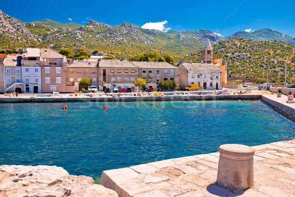 Stad kanaal kust Kroatië Stockfoto © xbrchx