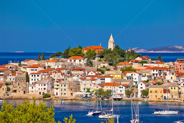 Adriatic tourist destination of Primosten skyline view Stock photo © xbrchx