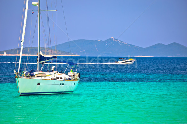 Dugi Otok island Pahthera bay sailing and yachting destinaion Stock photo © xbrchx