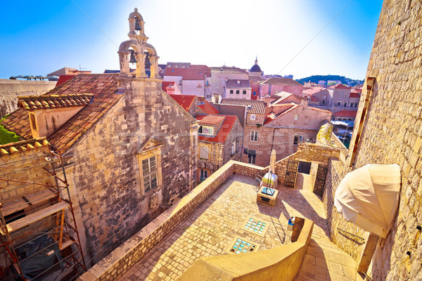 Dubrovnik historic architecture view from city walls Stock photo © xbrchx