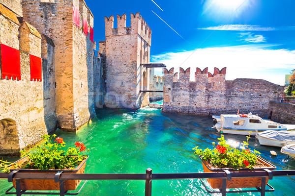 Ville entrée murs vue région Italie Photo stock © xbrchx