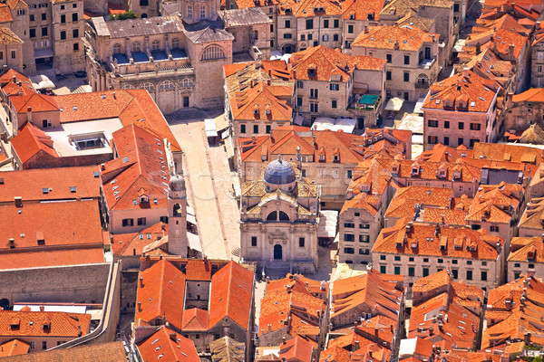 Dubrovnik old town streets aerial view Stock photo © xbrchx