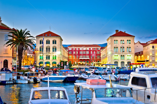 Prokurative square in Split evening colorful view Stock photo © xbrchx