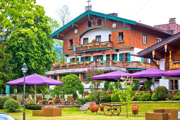 Traditionnel architecture village lac région Allemagne Photo stock © xbrchx