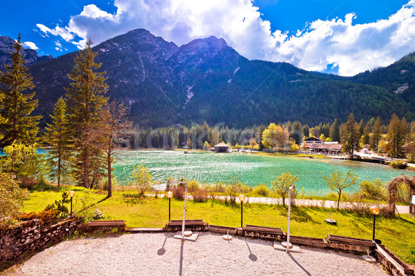 Lago di Dobbiaco in Dolomites Alps view Stock photo © xbrchx