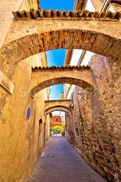 Street of Sirmione historic architecture view Stock photo © xbrchx