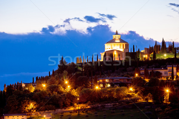 Madonna di Lourdes sanctuary in Verona evening view Stock photo © xbrchx