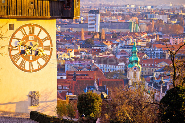 Graz uhrturm and cityscape view from above Stock photo © xbrchx