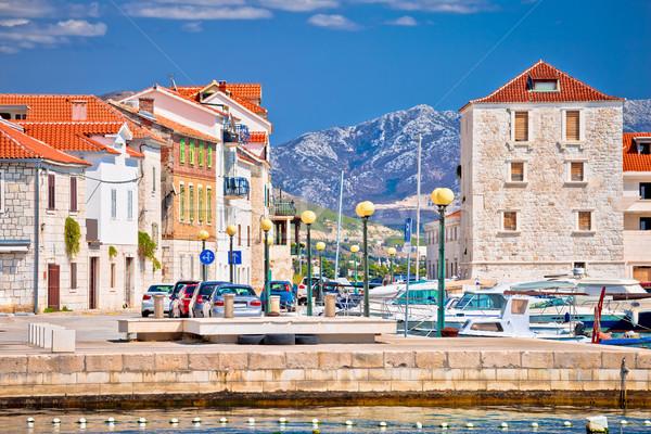 Türkiz kikötő építészet kilátás régió tengerpart Stock fotó © xbrchx