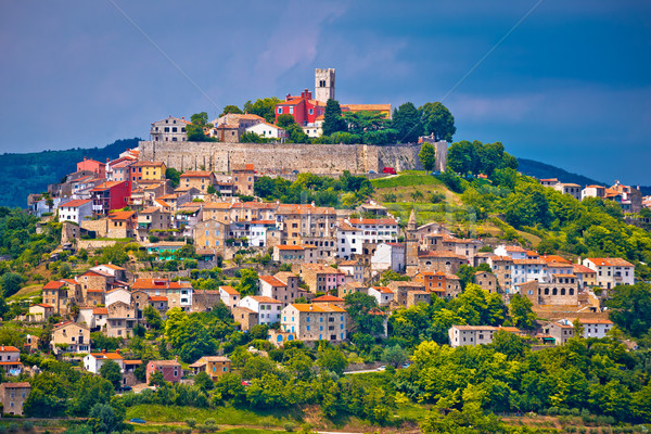 Town of Motovun on picturesque hill Stock photo © xbrchx