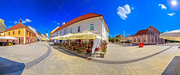 Town of Cakovec square and landmarks panoramic view Stock photo © xbrchx