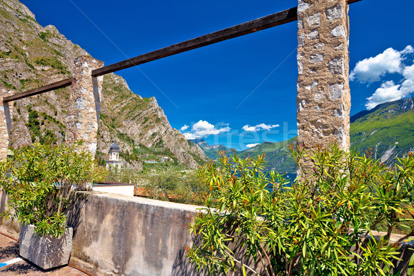 Starych cytryny plantacja jezioro region Włochy Zdjęcia stock © xbrchx