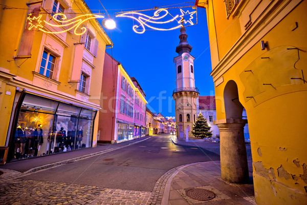 Bad Radkersburg street evening advent view Stock photo © xbrchx
