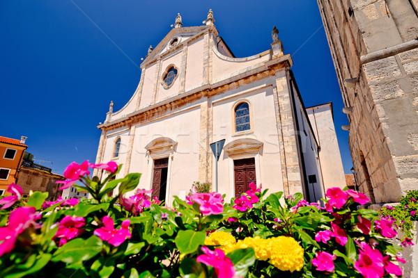 Town of Vodnjan church view Stock photo © xbrchx