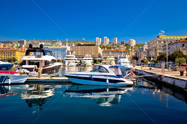 City of Rijeka yachting waterfront view Stock photo © xbrchx