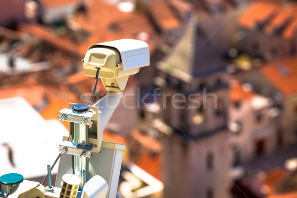 Security camera in historic town center of Omis Stock photo © xbrchx