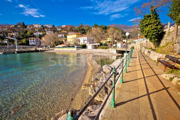 Stockfoto: Dorp · hemel · landschap · straat · zee