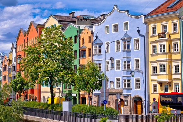 Colorful architecture od Innsbruck riverfront view Stock photo © xbrchx