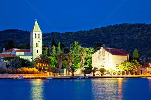 Island of Vis evening architecture vew Stock photo © xbrchx