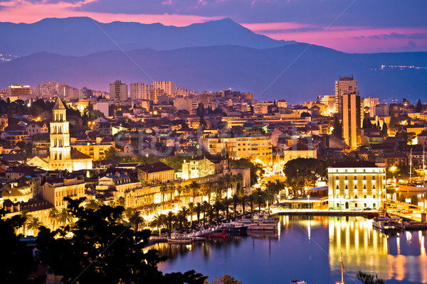 City of Split aerial view at dawn Stock photo © xbrchx