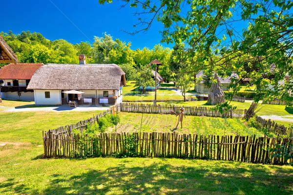 Kumrovec picturesque village in Zagorje region of Croatia Stock photo © xbrchx