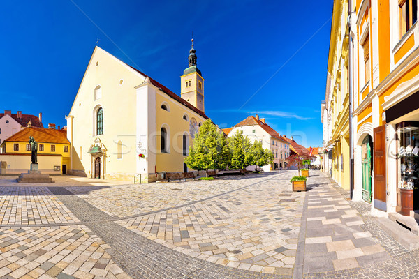 Baroque town of Varazdin square panoramic view Stock photo © xbrchx