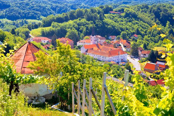 живописный города зеленый регион Хорватия Сток-фото © xbrchx