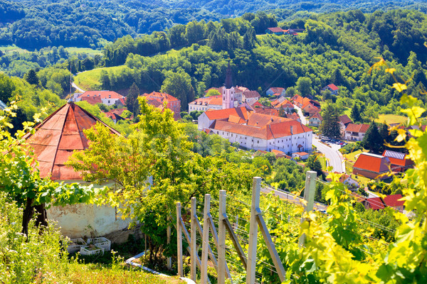 Picturesque town of Klanjec aerial view Stock photo © xbrchx