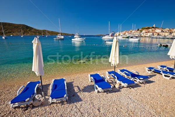 Turquoise Adriatic beach in Primosten Stock photo © xbrchx