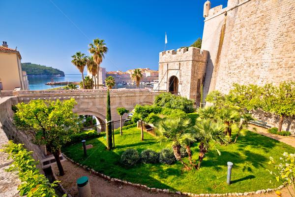 Dubrovnik barrio antiguo puerta entrada vista meridional Foto stock © xbrchx