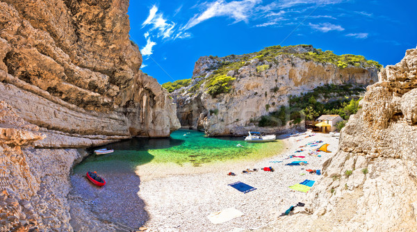 Amazing Stinva beach of Vis island Stock photo © xbrchx