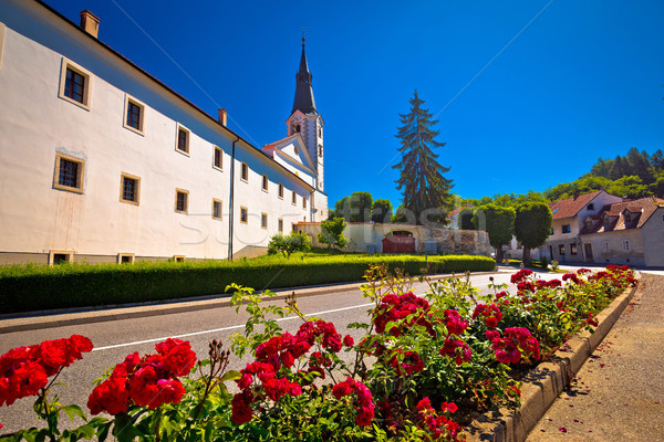 Picturesque town of Klanjec street view Stock photo © xbrchx