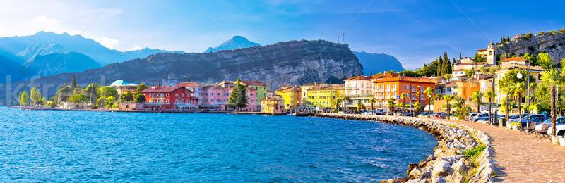 Lago di Garba town of Torbole panoramic view Stock photo © xbrchx