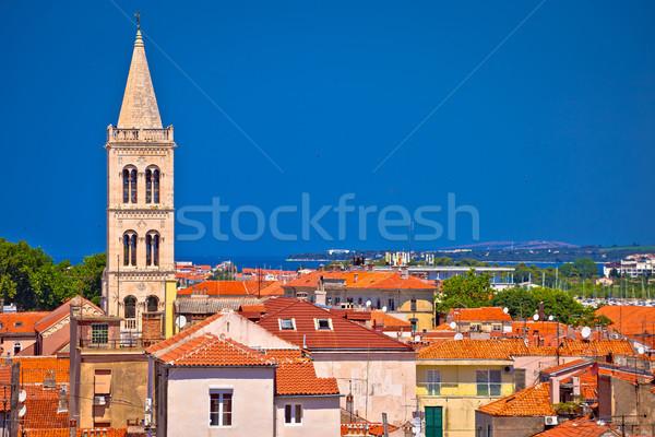 Historic Zadar skyline and rooftops view Stock photo © xbrchx