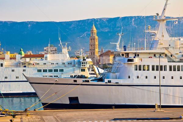 City of Split boats and landmarks view Stock photo © xbrchx