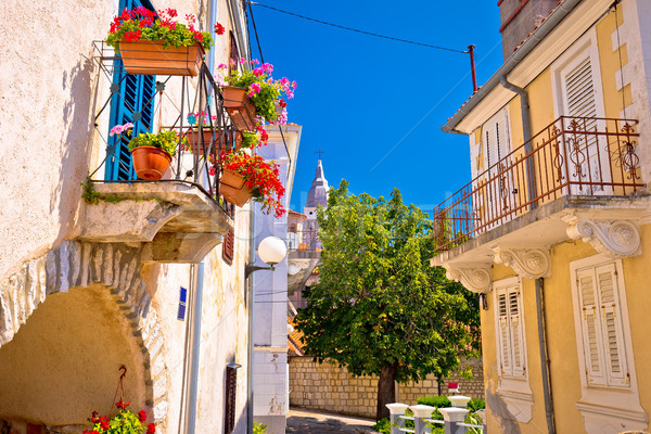 Stad oude middellandse zee uitzicht op straat eiland Kroatië Stockfoto © xbrchx