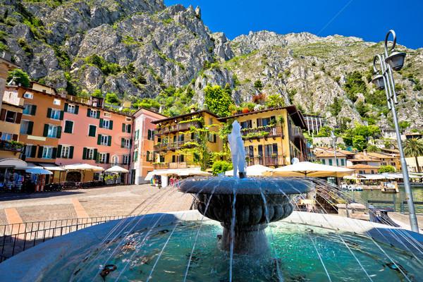 Limone sul Garda fountain and square view Stock photo © xbrchx