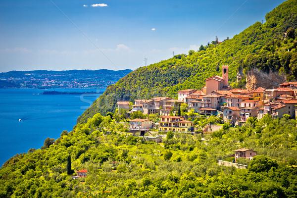 Pastoral köy göl bölge İtalya Stok fotoğraf © xbrchx