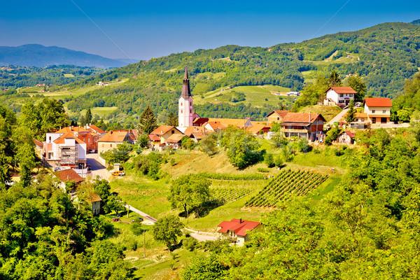 Pittoresque ville vue région ciel fleur Photo stock © xbrchx
