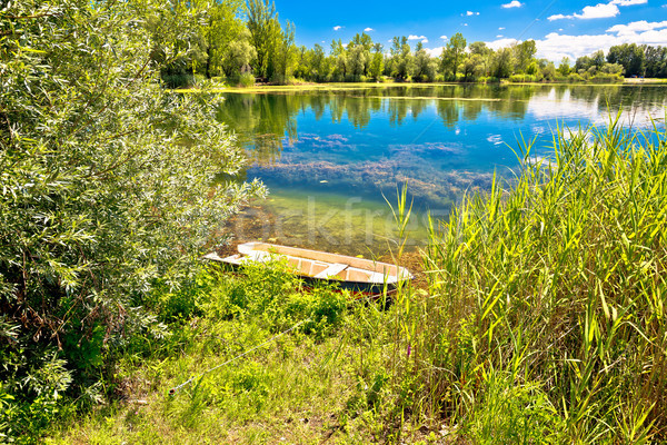 Soderica lake green landscape view Stock photo © xbrchx