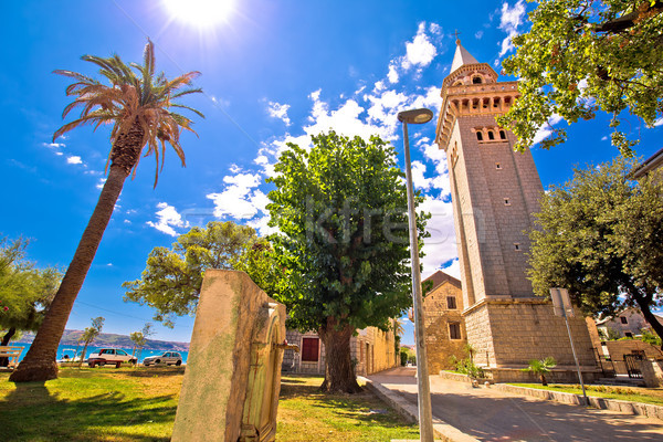 Iglesia paisaje vista región cielo sol Foto stock © xbrchx