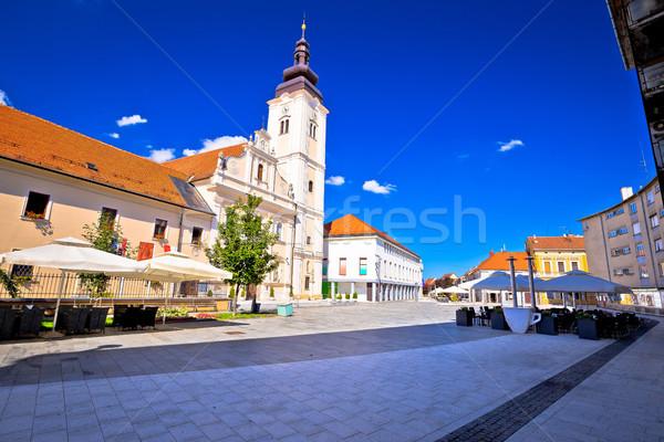 Ville principale carré église vue région Photo stock © xbrchx