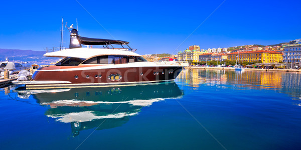 City of Rijeka yachting waterfront panoramic view Stock photo © xbrchx