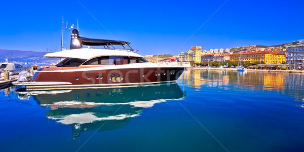 Ville bord de l'eau panoramique vue eau nature Photo stock © xbrchx