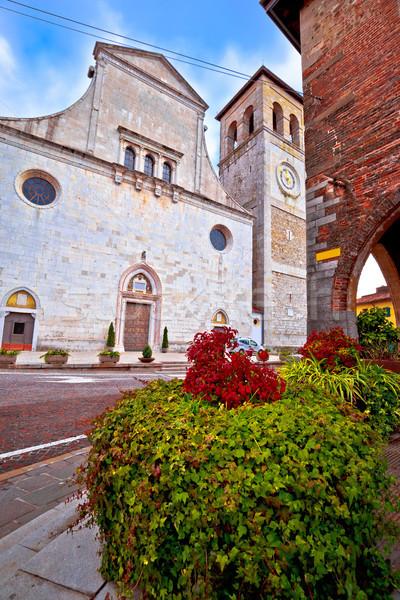 Cividale del Friuli square and church view Stock photo © xbrchx