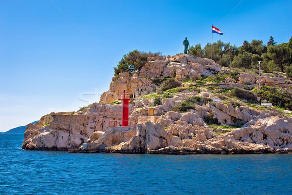 Makarska cliff walkway by the sea view Stock photo © xbrchx