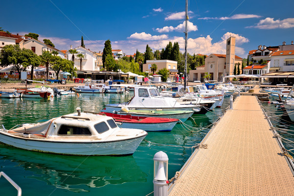 Town of Malinska harbor and waterfront view Stock photo © xbrchx