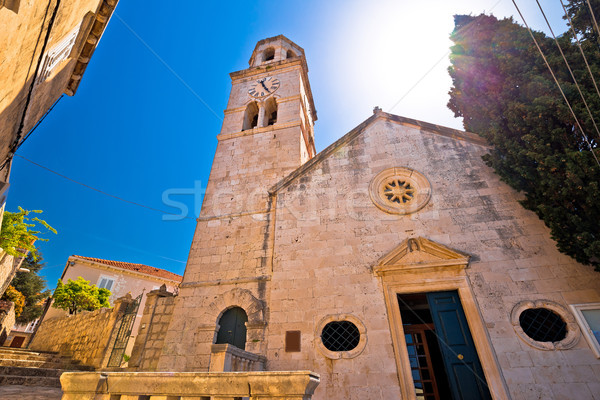 Town of Cavtat stone church view Stock photo © xbrchx