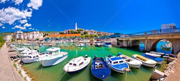 Ville bord de l'eau panoramique vue région plage Photo stock © xbrchx