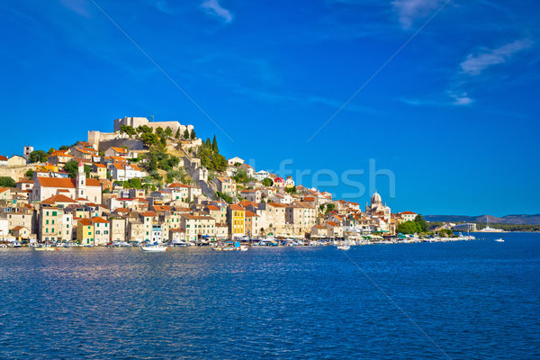 Historic town of Sibenik waterfront view Stock photo © xbrchx